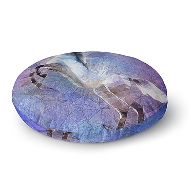 East Urban Home Ancello Abstract Horse Round Floor Pillow; 23'' x 23''