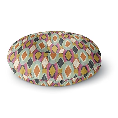 East Urban Home Amanda Lane Sequoyah Ovals Round Floor Pillow; 23'' x 23''
