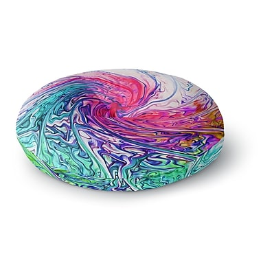East Urban Home Alison Coxon Colour Wave Fantasy Round Floor Pillow; 26'' x 26''
