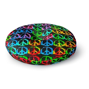 East Urban Home Anne LaBrie Give Peace A Chance Pop Art Round Floor Pillow; 26'' x 26''