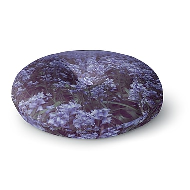 East Urban Home Ann Barnes Forest Flowers Round Floor Pillow; 23'' x 23''
