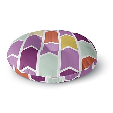 East Urban Home Pellerina Design Orchid Geometric Chevron Arrows Round Floor Pillow; 23'' x 23''