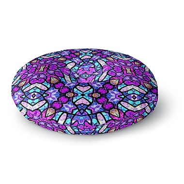 East Urban Home Art Love Passion Kaleidoscope Dream Continued Round Floor Pillow; 23'' x 23''