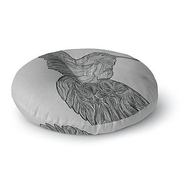 East Urban Home Belinda Gillies Hummingbird Round Floor Pillow; 23'' x 23''