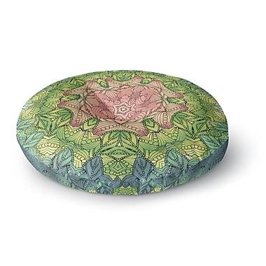 East Urban Home Art Love Passion Celtic Flower Round Floor Pillow; 26'' x 26''