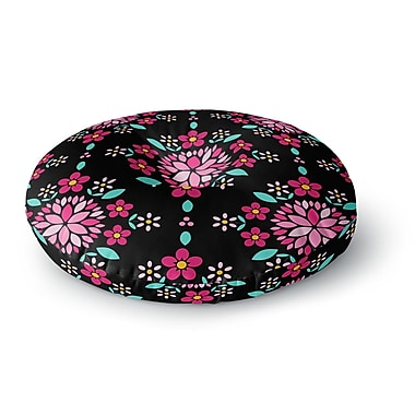 East Urban Home Anneline Sophia Dahlia Mandala Round Floor Pillow; 26'' x 26''