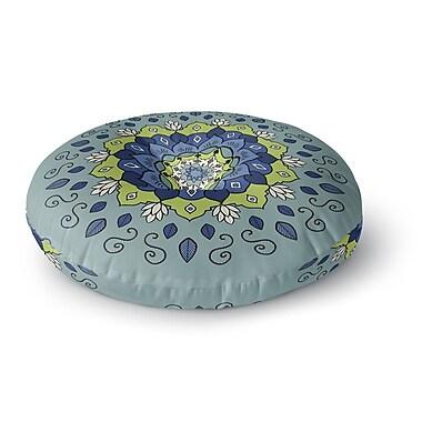 East Urban Home Cristina Bianco Design Mandala Geometric Round Floor Pillow; 26'' x 26''