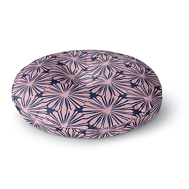 East Urban Home Amy Reber Daisy Pattern Round Floor Pillow; 26'' x 26''