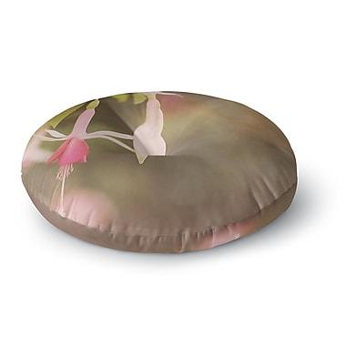 East Urban Home Angie Turner Fuchsia Flower Round Floor Pillow; 23'' x 23''