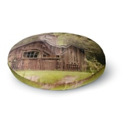 East Urban Home Angie Turner Shabby Elegance Barn Nature Photography Round Floor Pillow; 26'' x 26''