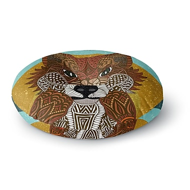 East Urban Home Art Love Passion Colored Fox Round Floor Pillow; 23'' x 23''