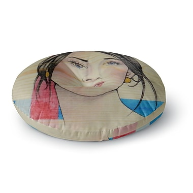 East Urban Home Brittany Guarino Face Round Floor Pillow; 23'' x 23''