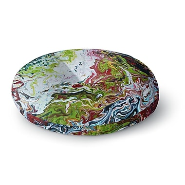 East Urban Home Claire Day Chaos Round Floor Pillow; 23'' x 23''