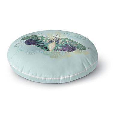 East Urban Home Catherine Holcombe Deco Moth Round Floor Pillow; 26'' x 26''
