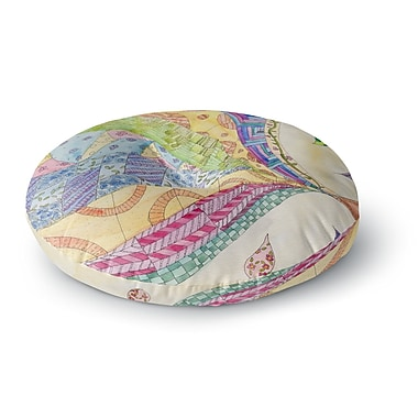 East Urban Home Catherine Holcombe The Painted Quilt Round Floor Pillow; 23'' x 23''