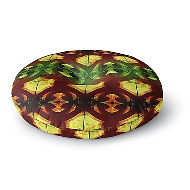 East Urban Home Anne LaBrie Tribal Marsala Round Floor Pillow; 26'' x 26''