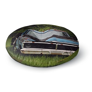 East Urban Home Angie Turner Old Ford Truck Digital Round Floor Pillow; 23'' x 23''