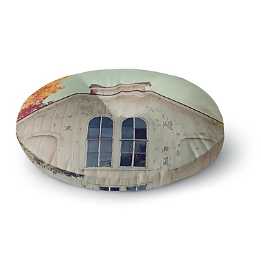 East Urban Home Angie Turner Fall Barn Top Photgraphy Round Floor Pillow; 26'' x 26''