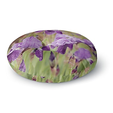 East Urban Home Angie Turner Irises Floral Round Floor Pillow; 26'' x 26''