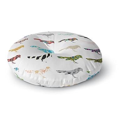 East Urban Home Belinda Gillies Birds Round Floor Pillow; 23'' x 23''