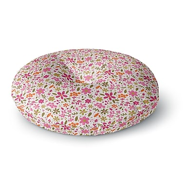 East Urban Home Carolyn Greifeld Flowers Garden Round Floor Pillow; 26'' x 26''