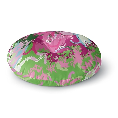 East Urban Home Empire Ruhl Spring Frolic Abstract Round Floor Pillow; 23'' x 23''