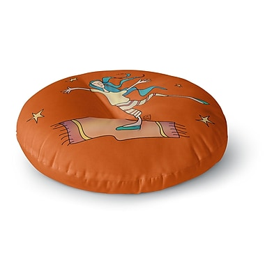 East Urban Home Carina Povarchik Being Free Round Floor Pillow; 23'' x 23''
