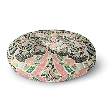 East Urban Home Danny Ivan Too Much Round Floor Pillow; 26'' x 26''