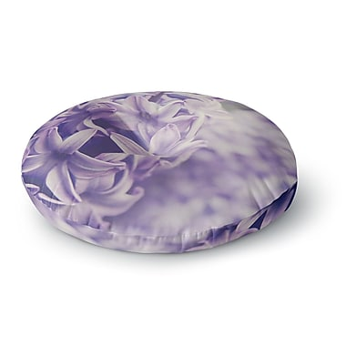 East Urban Home Angie Turner Lavender Dreams Lilac Round Floor Pillow; 23'' x 23''