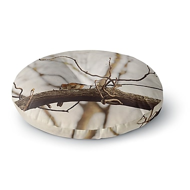 East Urban Home Angie Turner Spring Robin Round Floor Pillow; 23'' x 23''