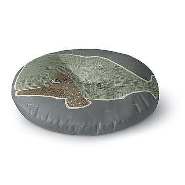 East Urban Home Bri Buckley Whale Round Floor Pillow; 26'' x 26''