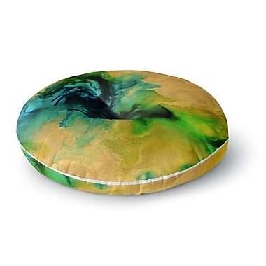 East Urban Home Claire Day Glamorous Abstract Painting Round Floor Pillow; 26'' x 26''