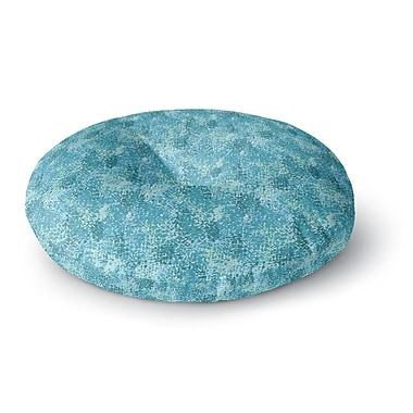 East Urban Home Carolyn Greifeld Painterlys Abstract Round Floor Pillow; 23'' x 23''