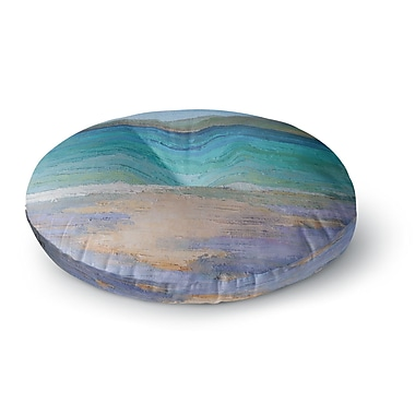 East Urban Home Carol Schiff Caribbean Dream Painting Round Floor Pillow; 26'' x 26''