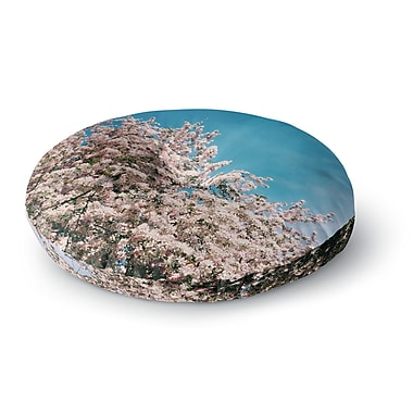 East Urban Home Chelsea Victoria Blossom Tree Round Floor Pillow; 23'' x 23''