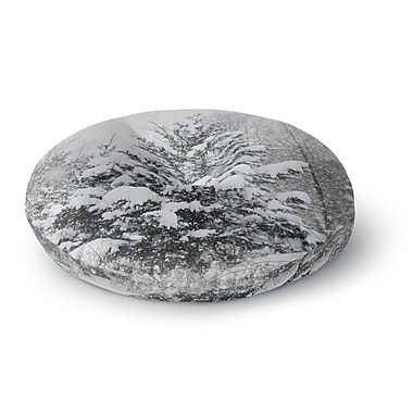 East Urban Home Chelsea Victoria Cool Yule Nature Photography Round Floor Pillow; 23'' x 23''