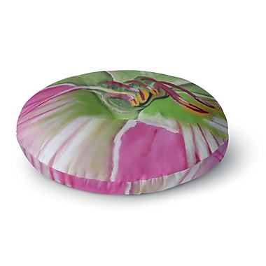 East Urban Home Cathy Rodgers Flower Round Floor Pillow; 23'' x 23''