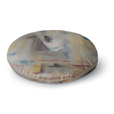 East Urban Home Cathy Rodgers Library Painting Abstract Round Floor Pillow; 26'' x 26''
