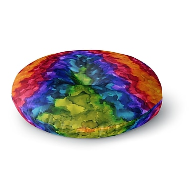 East Urban Home Claire Day Illusions Abstract Painting Round Floor Pillow; 26'' x 26''