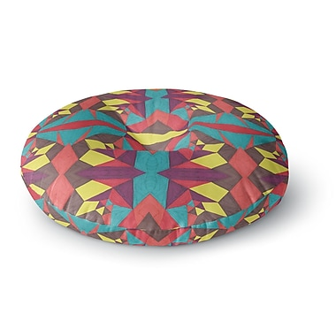 East Urban Home Empire Ruhl Abstract Insects Round Floor Pillow; 26'' x 26''