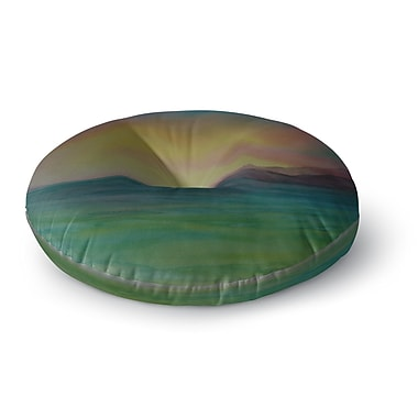 East Urban Home Cyndi Steen Christy's Island Watercolor Round Floor Pillow; 26'' x 26''