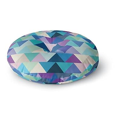 East Urban Home Draper Crystal Geometric Round Floor Pillow; 23'' x 23''