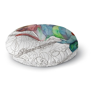 East Urban Home Catherine Holcombe Chameleon Fail Round Floor Pillow; 26'' x 26''