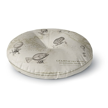 East Urban Home Catherine Holcombe The Southern Route Round Floor Pillow; 26'' x 26''