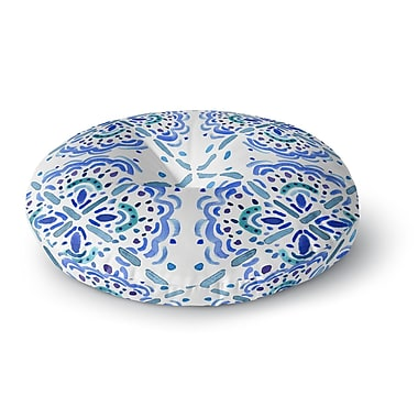 East Urban Home Catherine Holcombe Amalifi Coast Painting Round Floor Pillow; 26'' x 26''