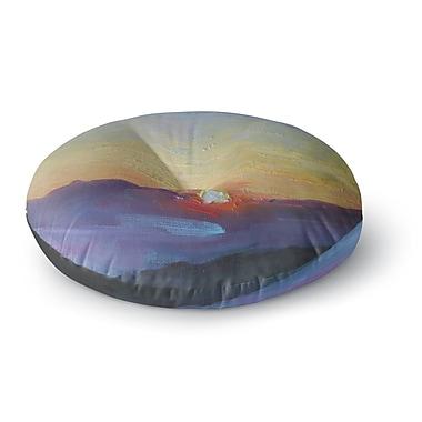 East Urban Home Carol Schiff Mountain Sunset Nature Round Floor Pillow; 23'' x 23''