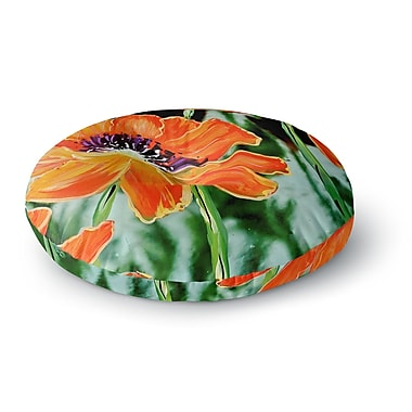 East Urban Home Christen Treat Through the Looking Glass Round Floor Pillow; 23'' x 23''