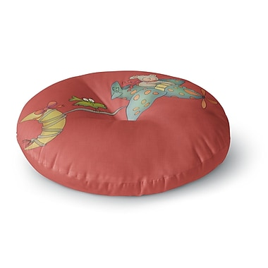 East Urban Home Carina Povarchik I Will Bring You the Moon Bear Round Floor Pillow; 26'' x 26''