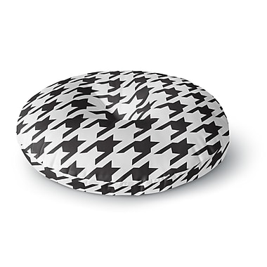 East Urban Home Empire Ruhl Spacey Houndstooth Round Floor Pillow; 26'' x 26''