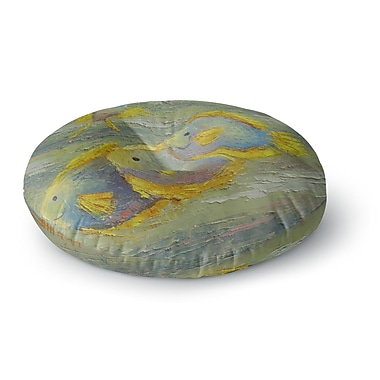 East Urban Home Carol Schiff Something Fishy Painting Round Floor Pillow; 23'' x 23''